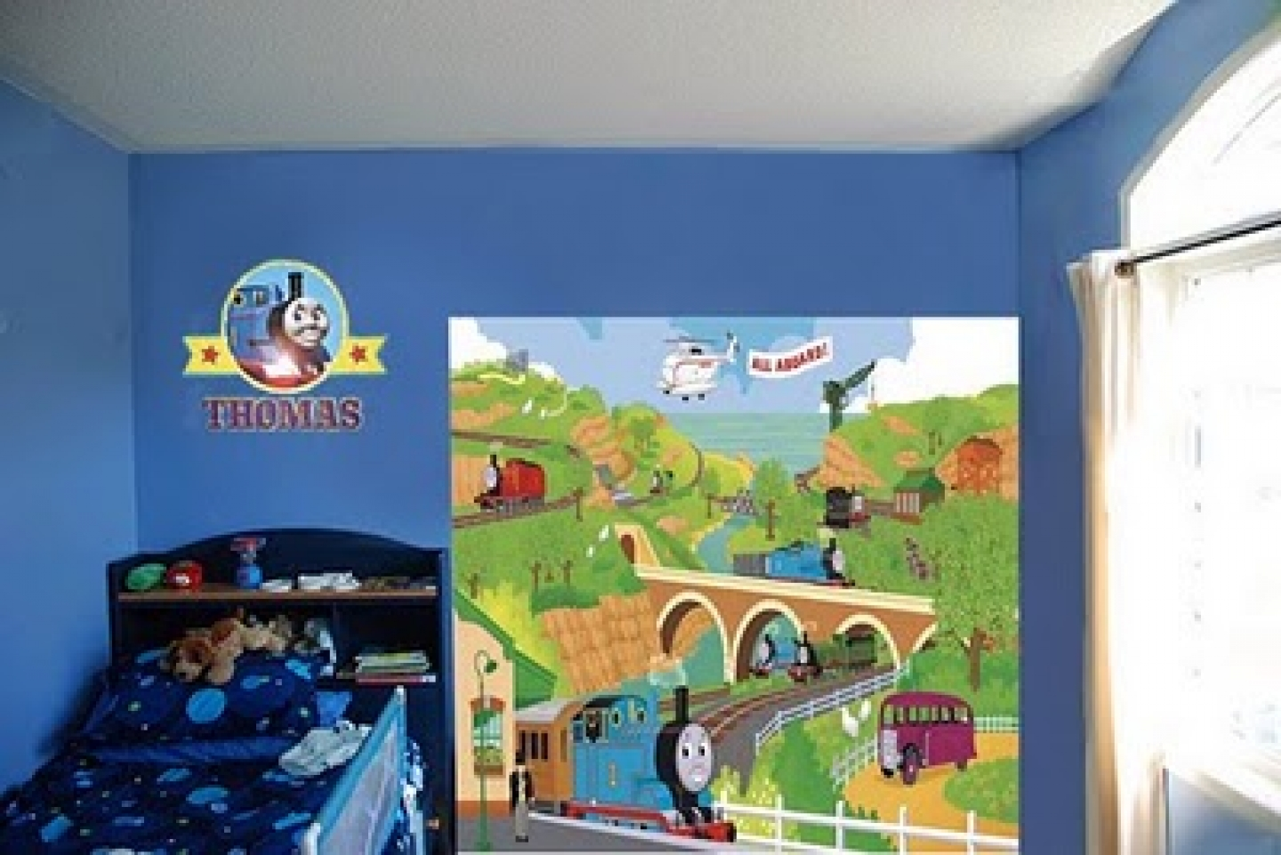 Boys room wallpaper wallpapersafari for Boys mural wallpaper