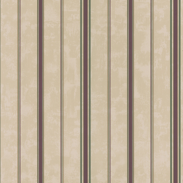 Brewster Taupe Burgundy Stripes Wallpaper 600x600
