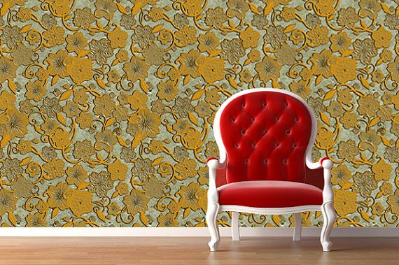 Removable Wallpaper  Carved Stone  Peel Stick Fabric Temporary Wall 570x379