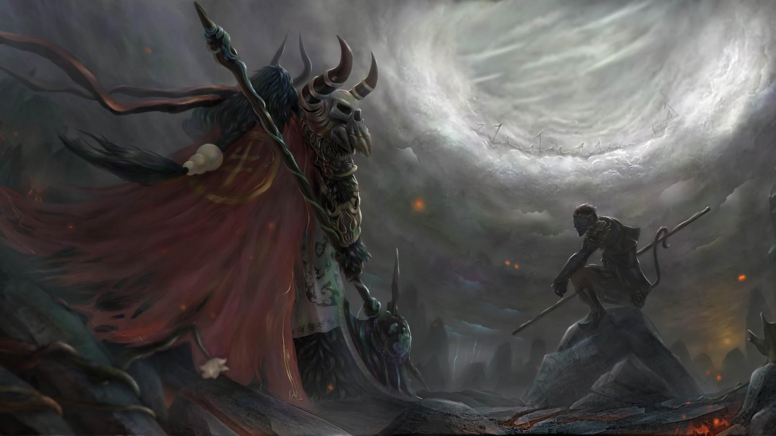 Guerrero vs Demonio   Fondos de Pantalla HD   Wallpapers HD 1600x900