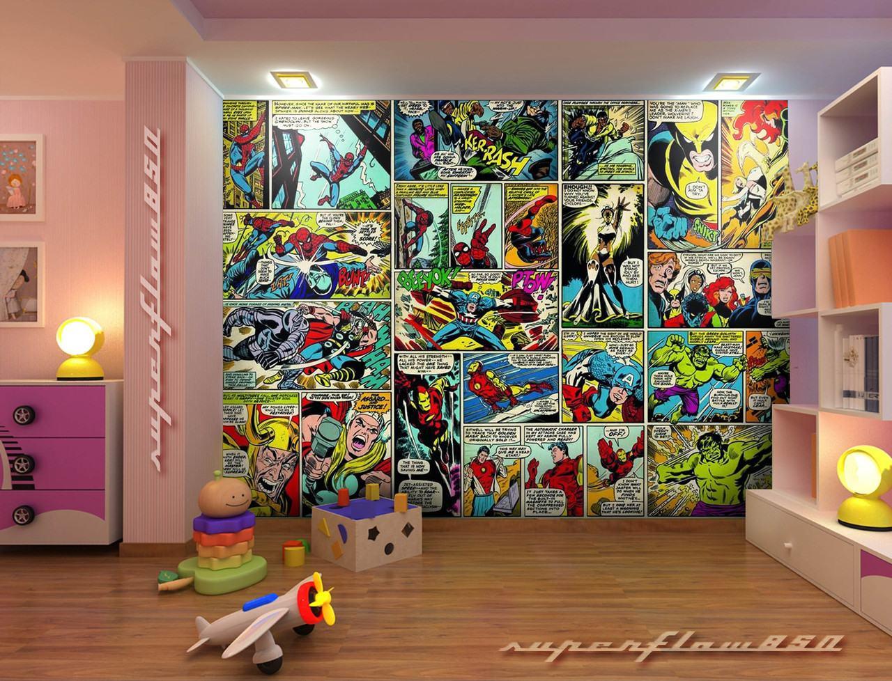 49 Marvel Comics Wallpaper Mural On Wallpapersafari