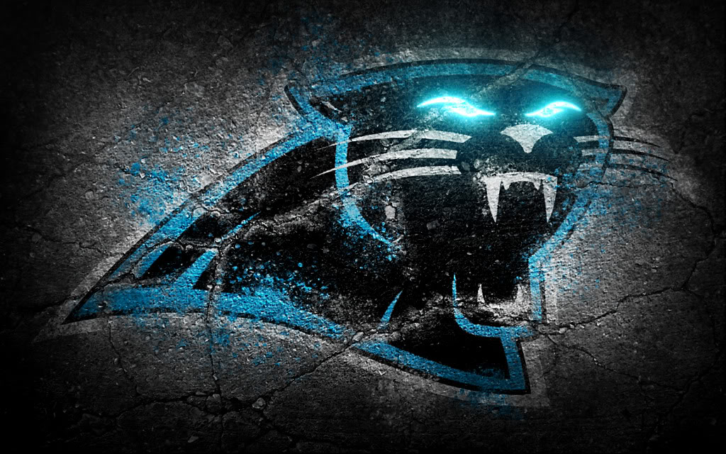 wallpaper that I believe a huddle member created   Carolina Panthers 1024x640