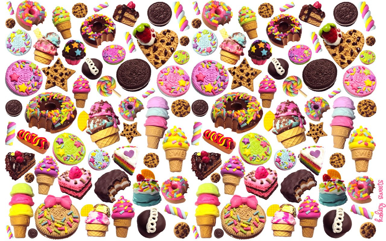 Kawaii candy wallpaper wallpapersafari - Kawaii food wallpaper ...