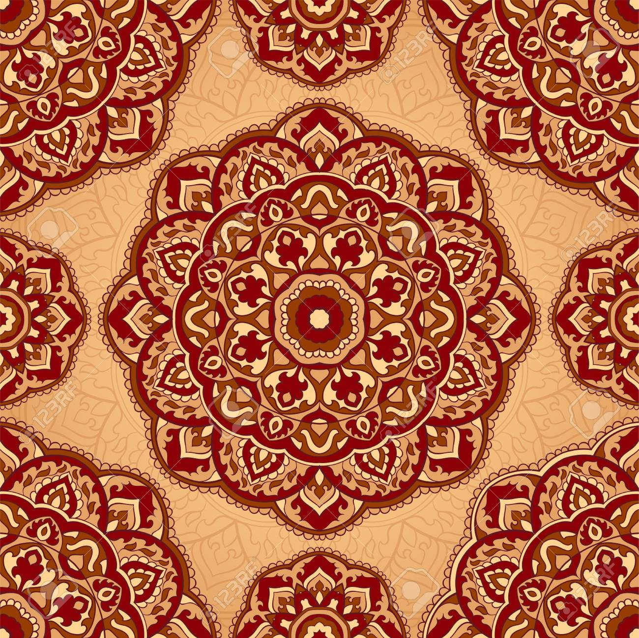 Abstract Indian Pattern With Mandala Vector Beautiful Background 1300x1299