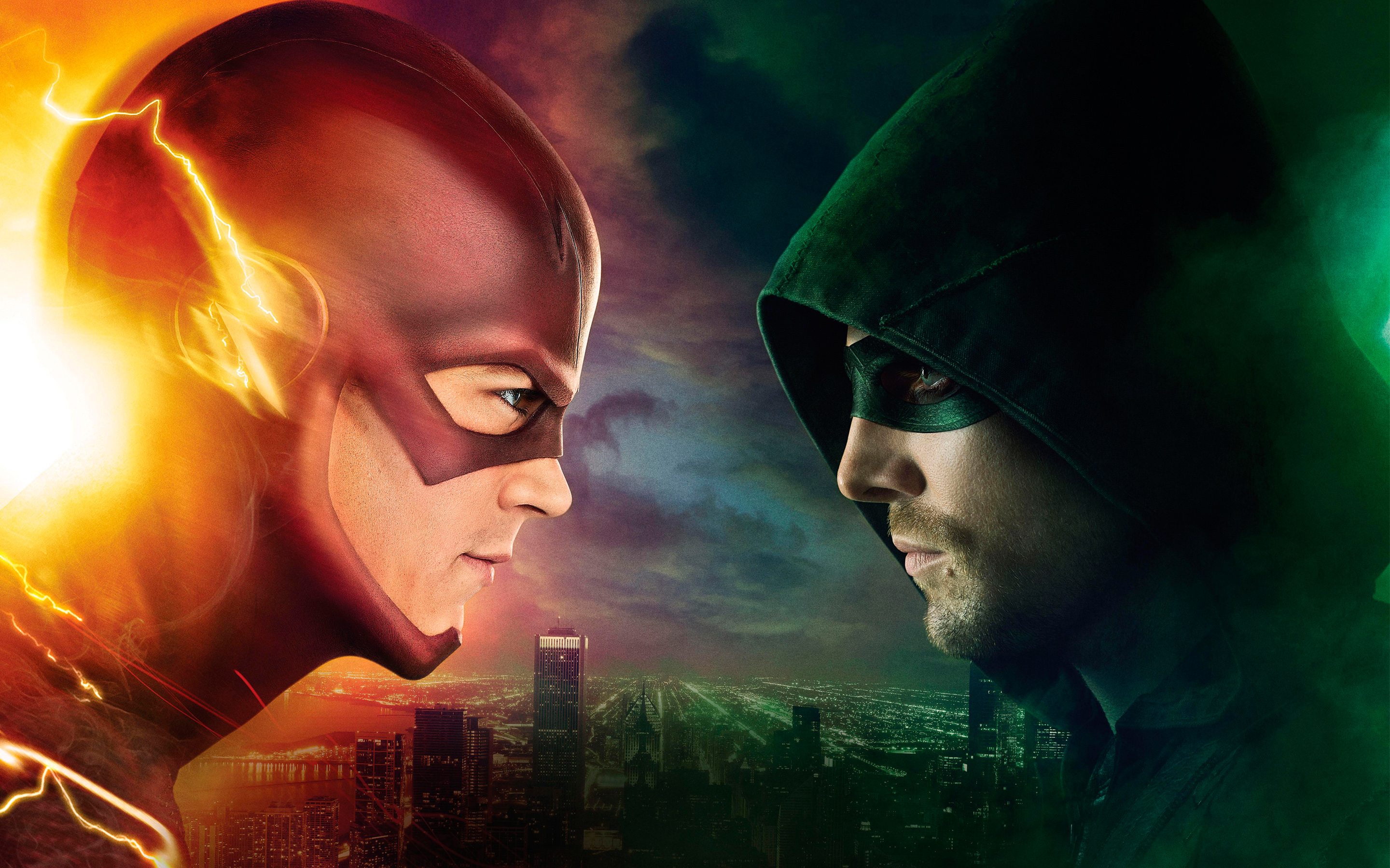 Flash vs Arrow Wallpapers HD Wallpapers 2880x1800
