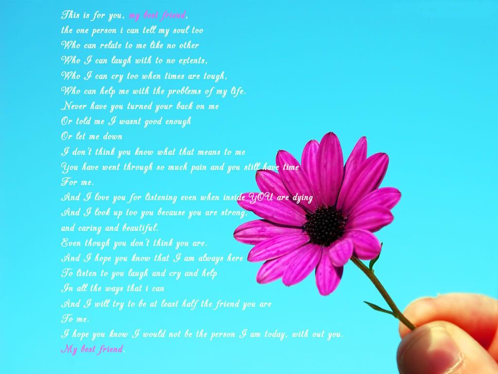 best best friend poem 1024x768