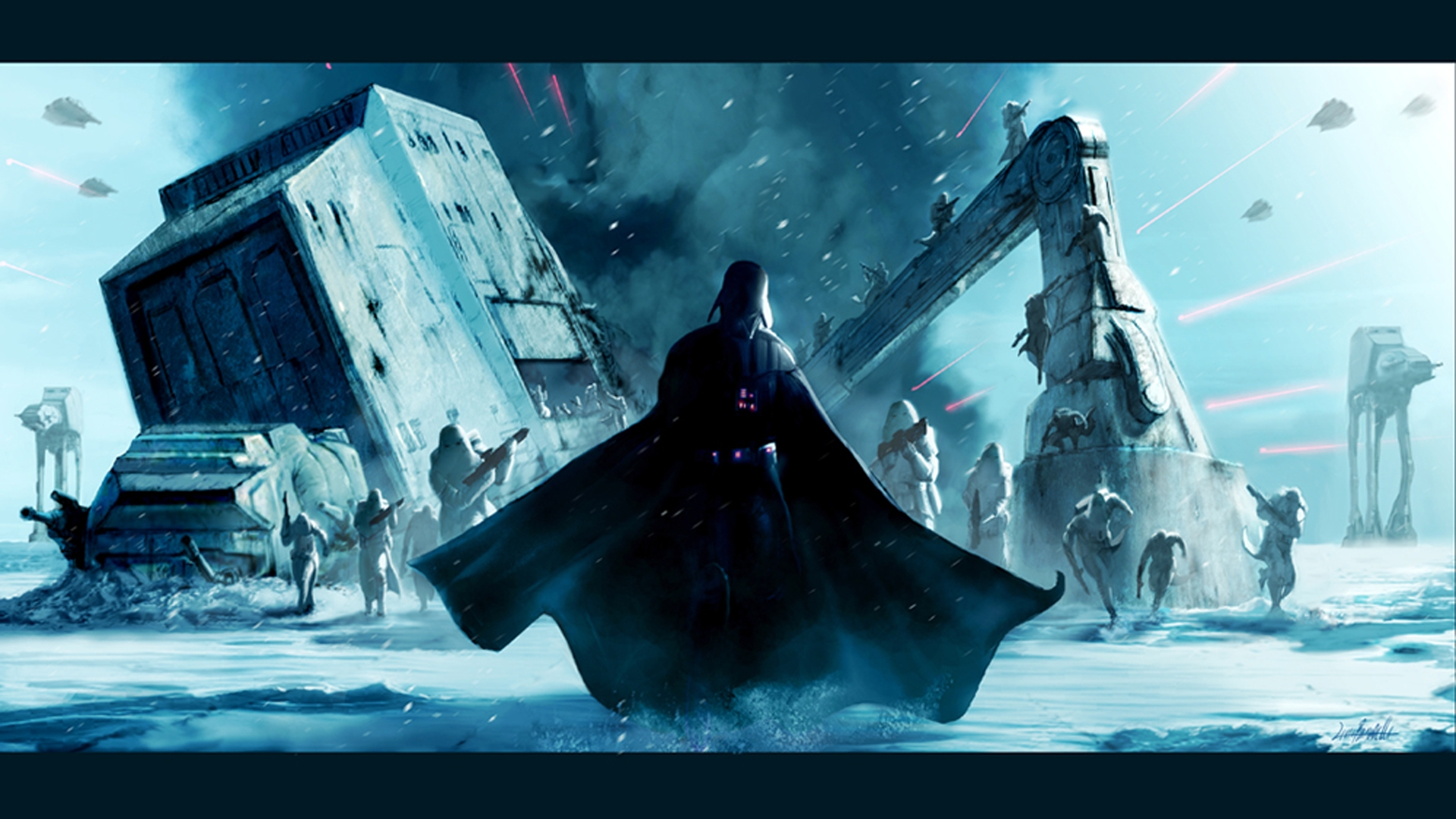 Star Wars Darth Vader Hoth HD Wallpaper 1920x1080