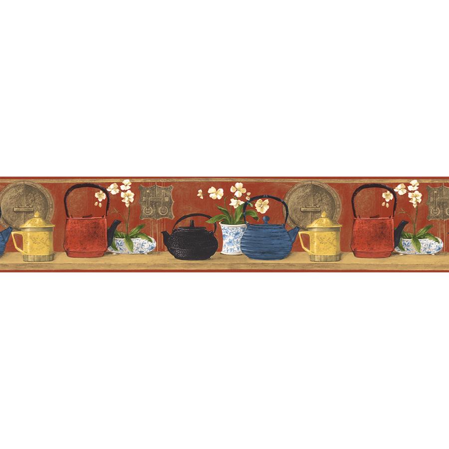 Norwall 7 Japanese Teapot Prepasted Wallpaper Border at Lowescom 900x900