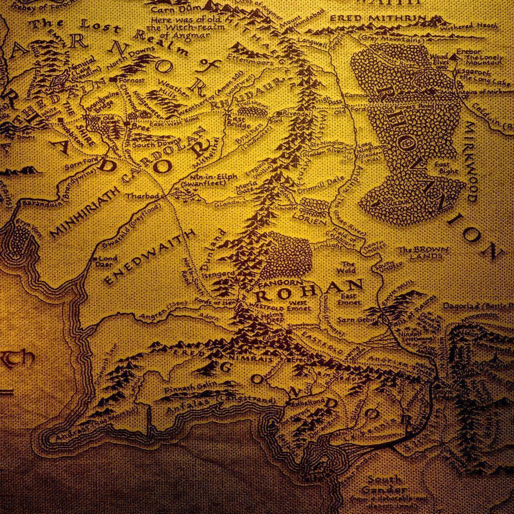 Map Of Middle Earth Wallpapers 1024x1024