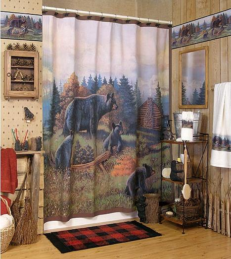 SHOWER CURTAINS WITH WALLPAPER BORDERS Blinds Shades Curtains 467x522