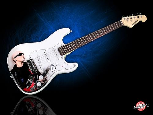 Joe Satriani Autographed Signed Guitar   Wallpaper Flickr 500x375