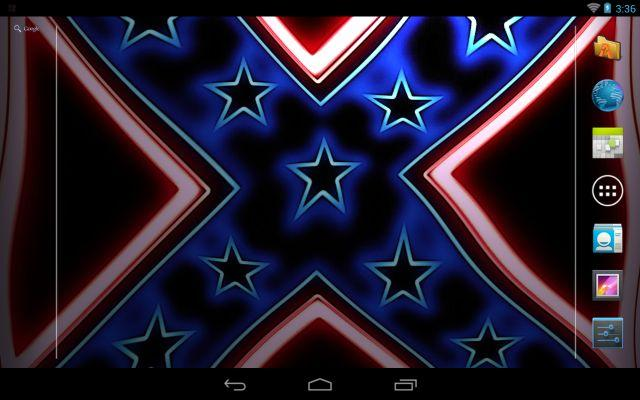 Rebel Flag Wave Live Wallpaper   screenshot 640x400