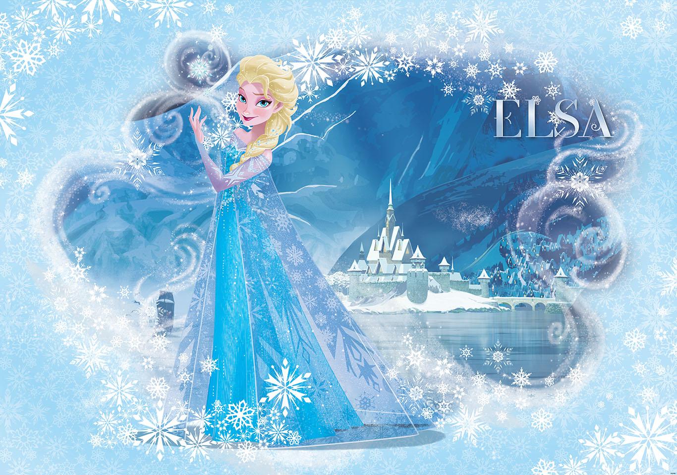 Frozen Elsa Light Blue Photo Wallpaper Wall Mural CN 835P eBay 1366x959