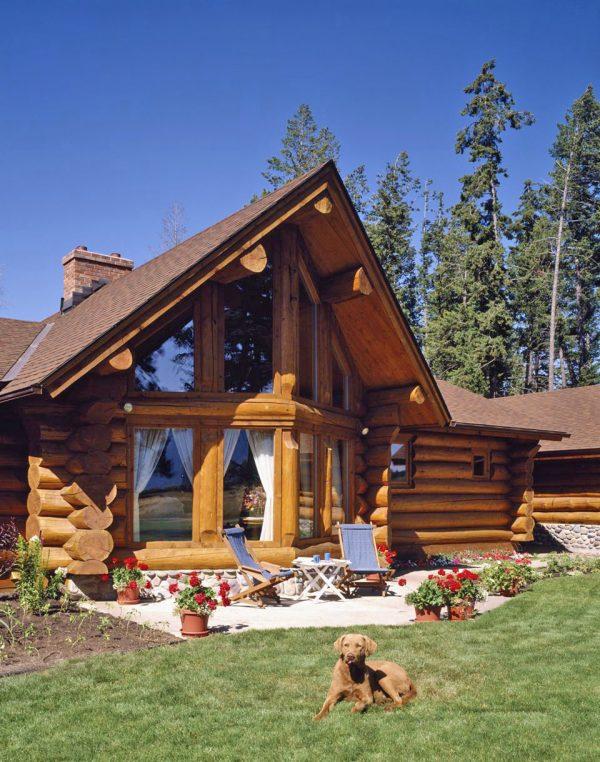 scribe log cabin kits western home decor scandinavian style log homes 600x762