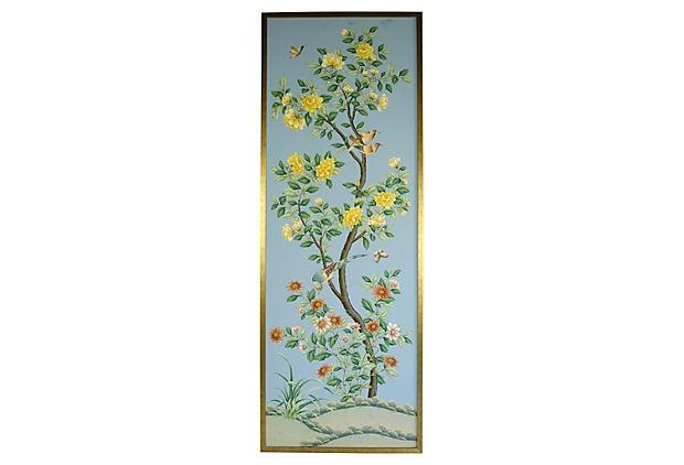 Hand Painted Wallpaper Panel II on OneKingsLanecom 620x422