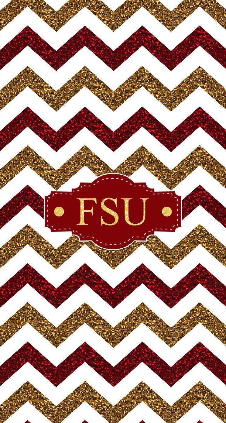Florida State FSU glitter chevron monogram wallpaper Made with 744x1392