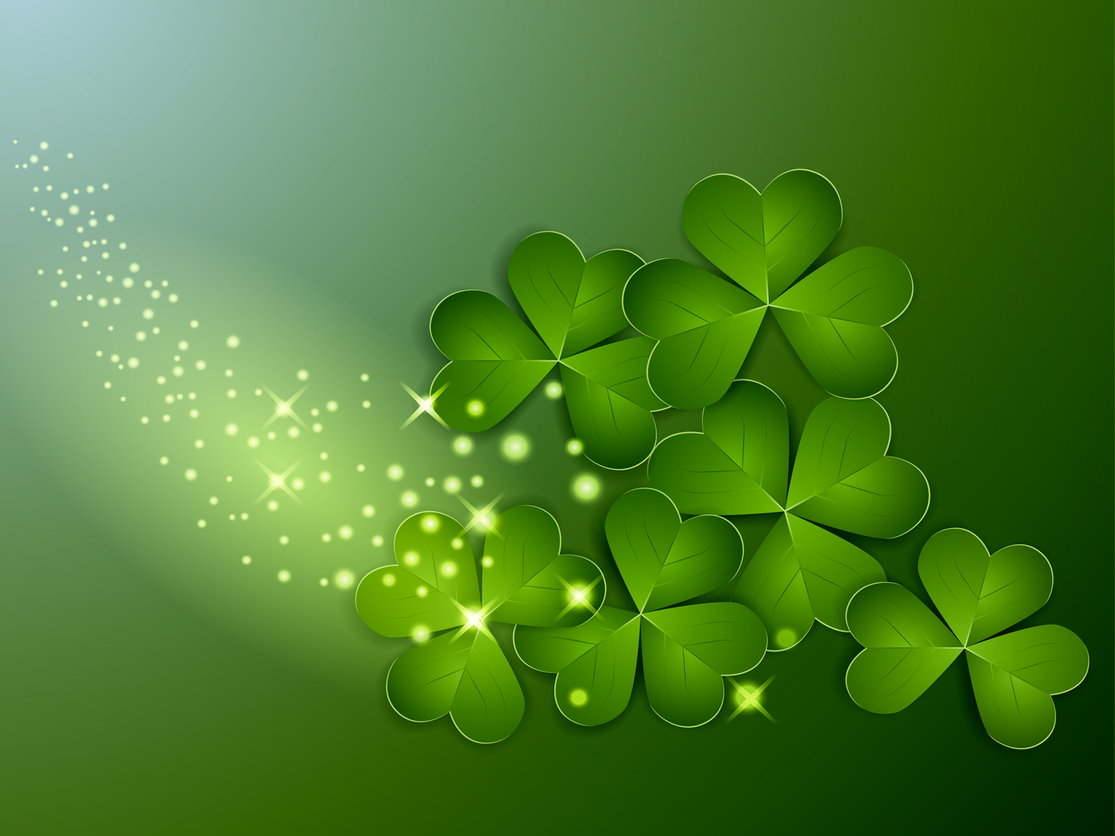 St Patricks Day Clover Wallpaper Gallery Yopriceville   High 1600x1200