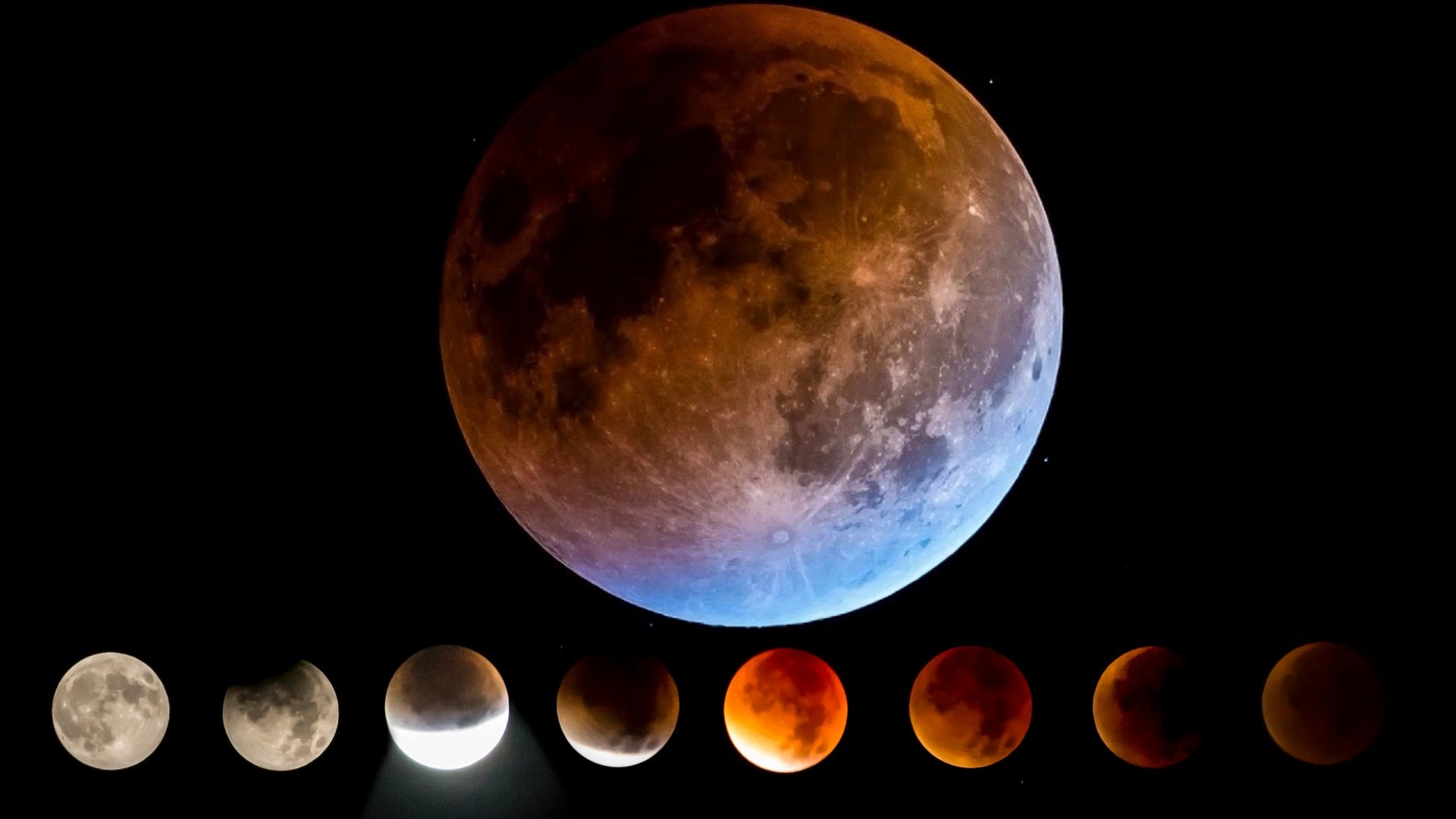 Super Blue Blood Moon Lunar Eclipse Wallpaper 2020 Cute Wallpapers 1920x1080
