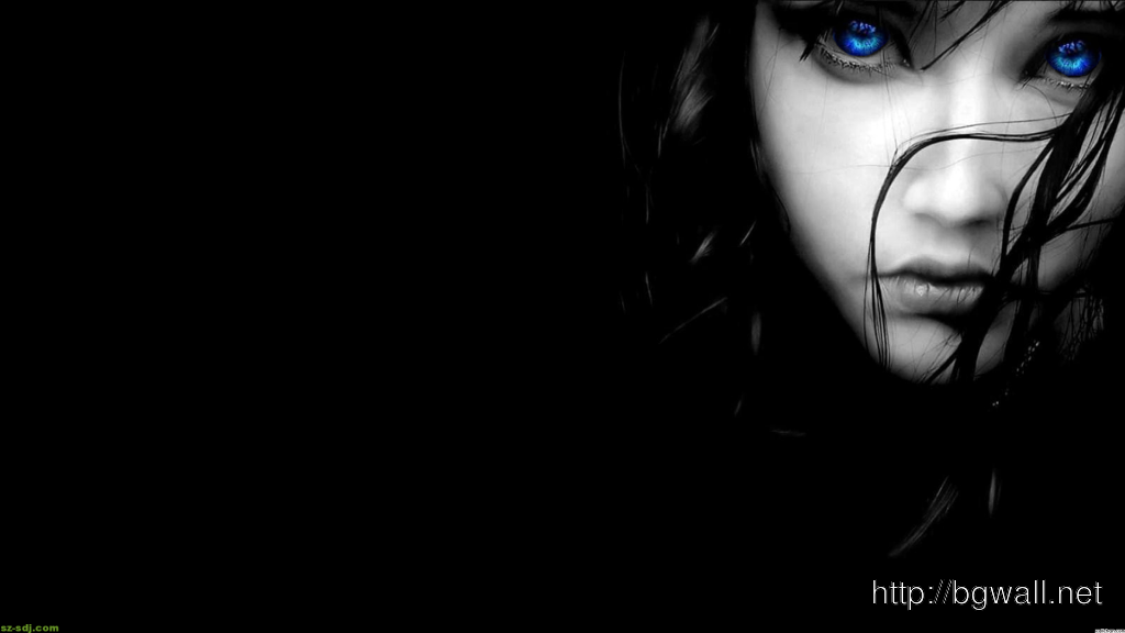 Black And Blue Eyes Wallpaper Widescreen 1024x576