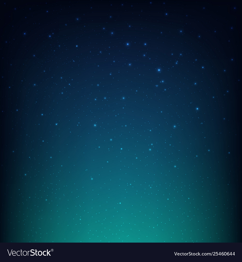 Night starry sky blue space background Royalty Vector 1000x1080