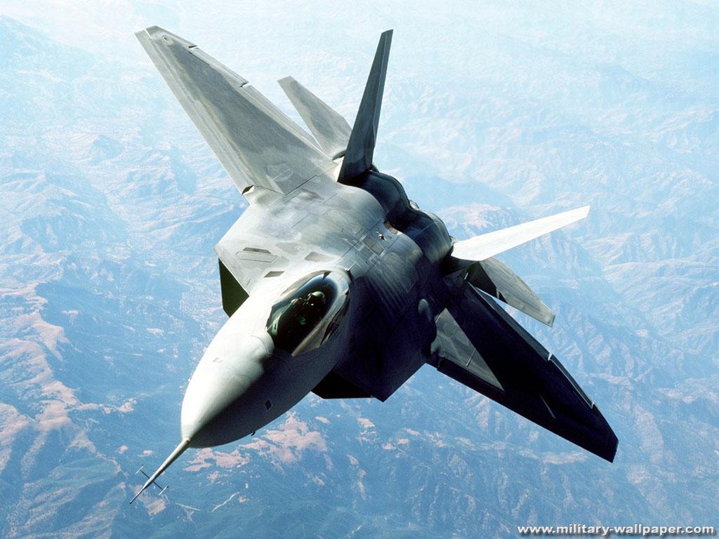 22 Raptor Military Jet Fighter Wallpaper 1024x768