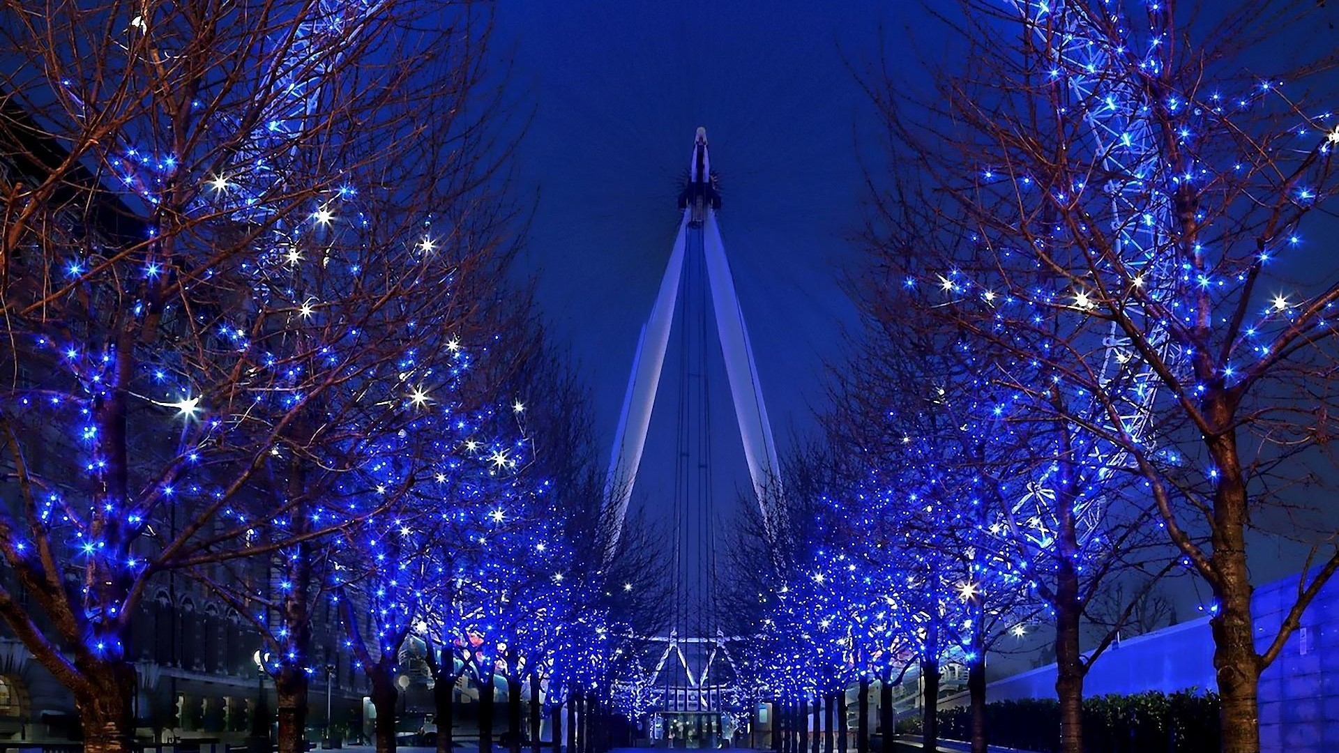London Eye Night Lights Wallpaper   Travel HD Wallpapers 1920x1080