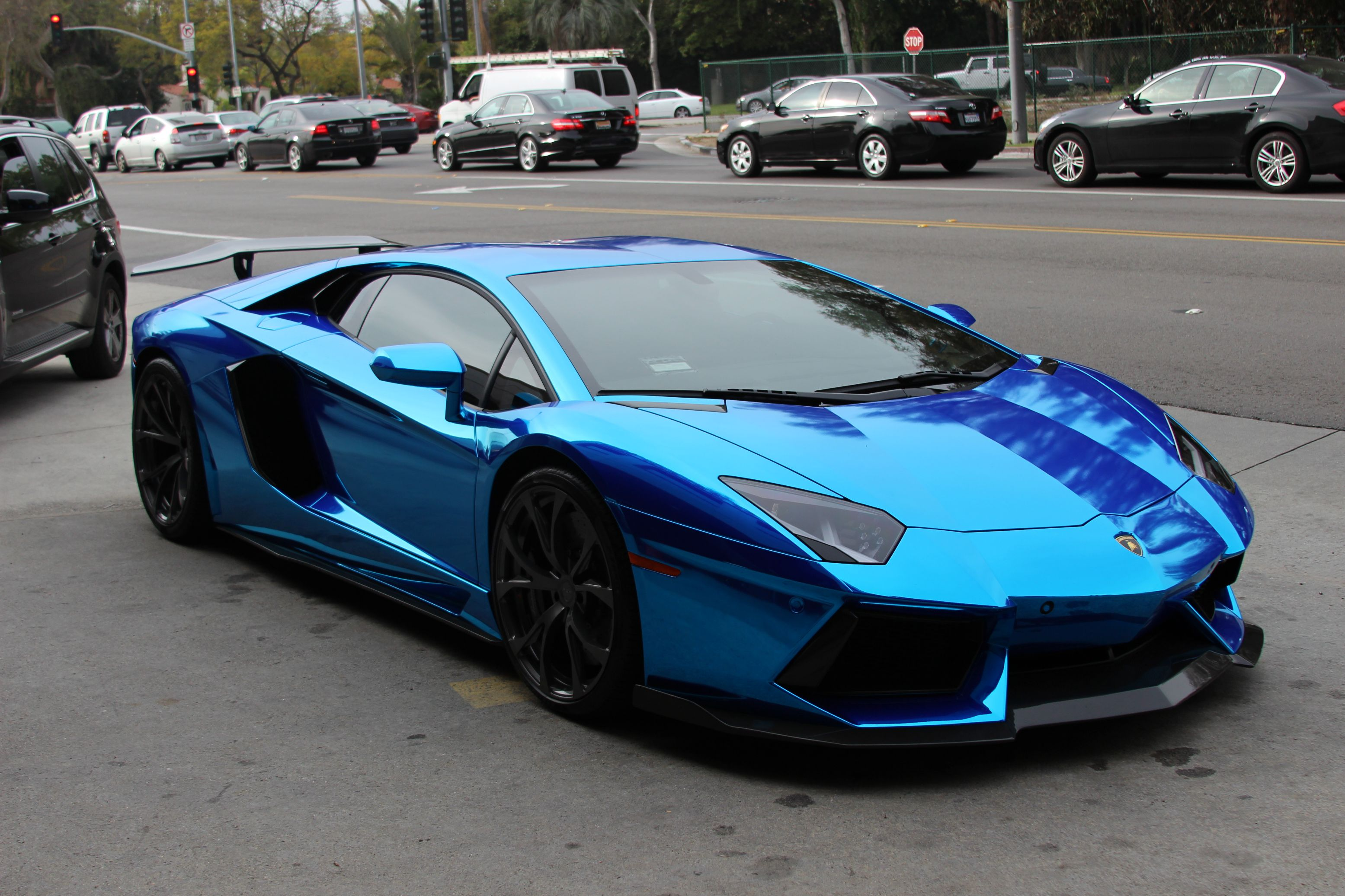 2015 lamborghini aventador high resolution wallpapers - Lamborghini Gallardo Wallpaper Blue