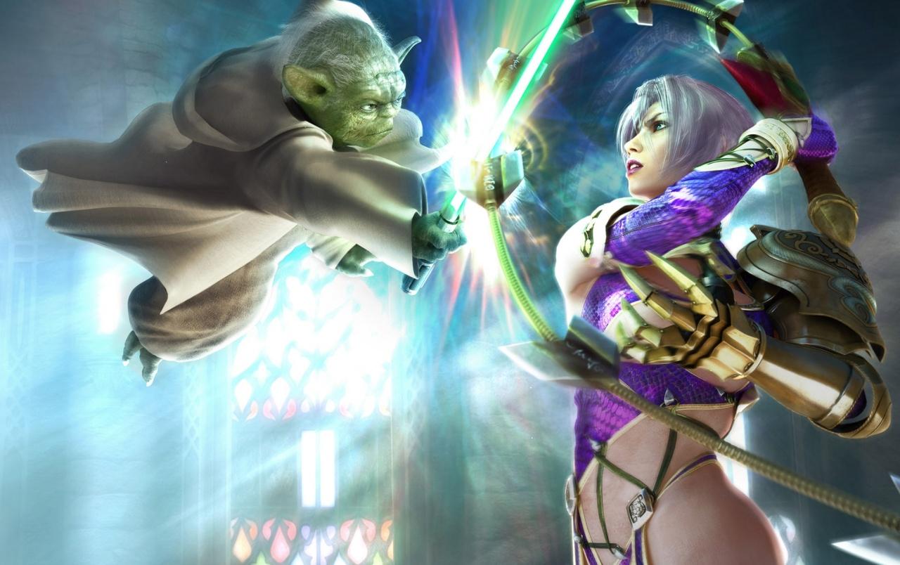 Fantasy girl - Yoda wallpapers | Fantasy girl - Yoda stock photos