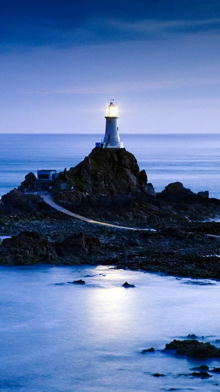 HD lock screen Lighthouse iPhone 6 Wallpaper 750x1334