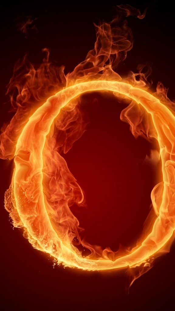 Burning Letter O Wallpaper   iPhone Wallpapers 576x1024