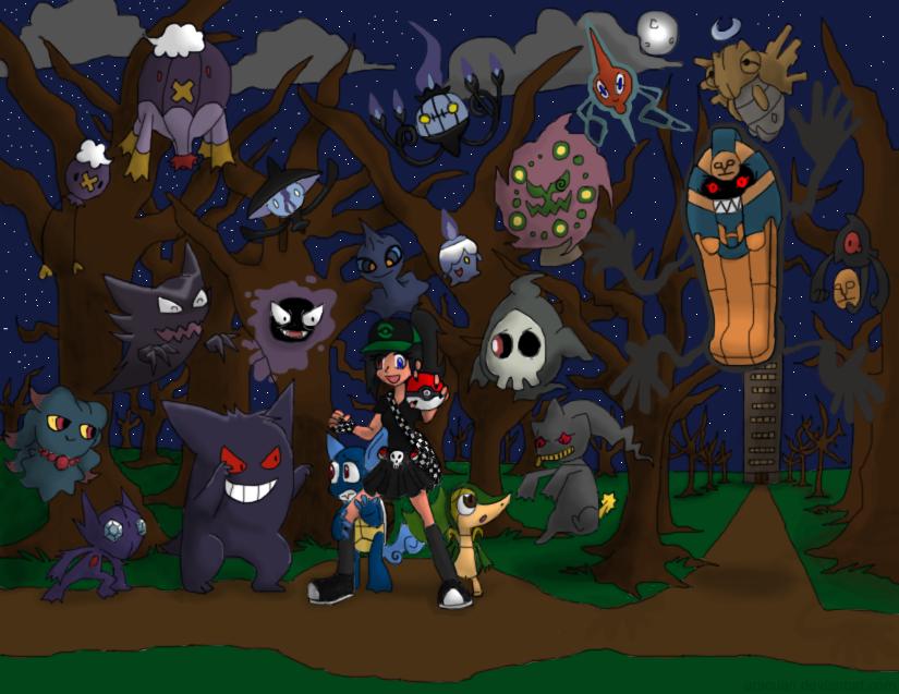Ghost Pokemon by Aracuan 825x637