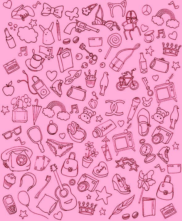 girly things pink color fan art 20586117 fanpop - Girly Pictures To Colour In