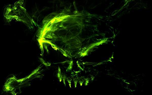 Image   Green Crossbones Skull Wallpaperjpg   The New Thundera Wiki 600x375