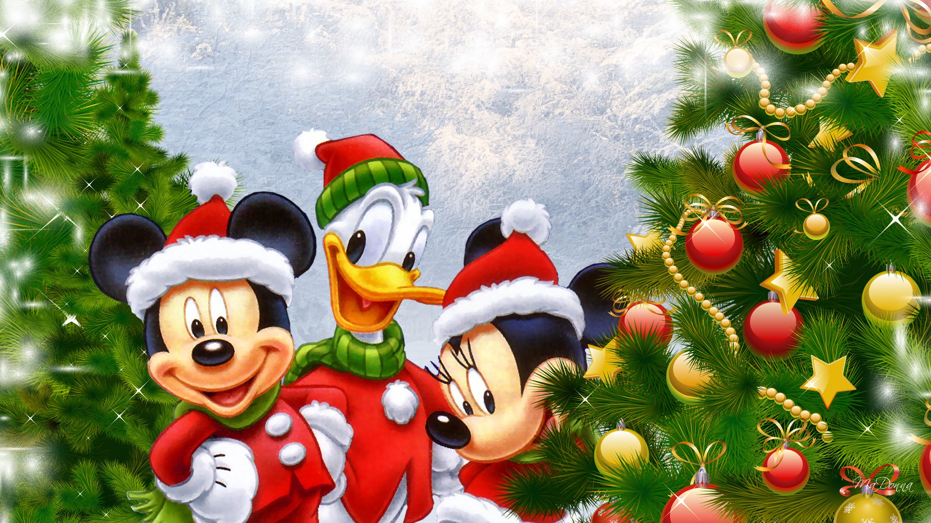 Walt Disney Christmas Wallpaper.76 Disney Christmas Wallpapers On Wallpapersafari