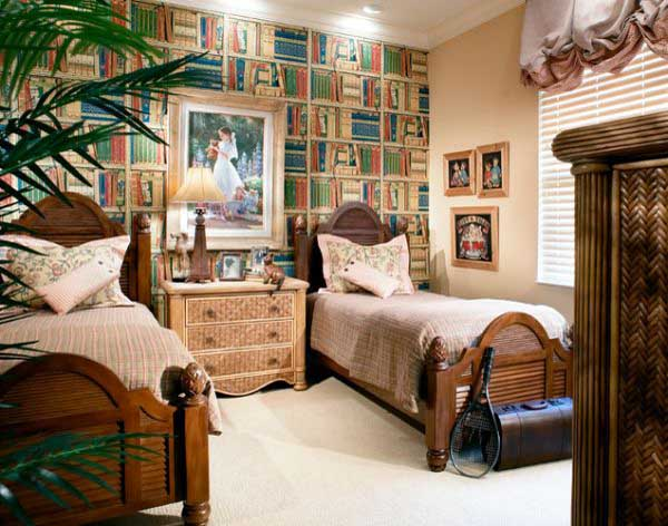 Bedroom Wallpaper That Looks Like Books 1 picture size 600x472 posted 600x472