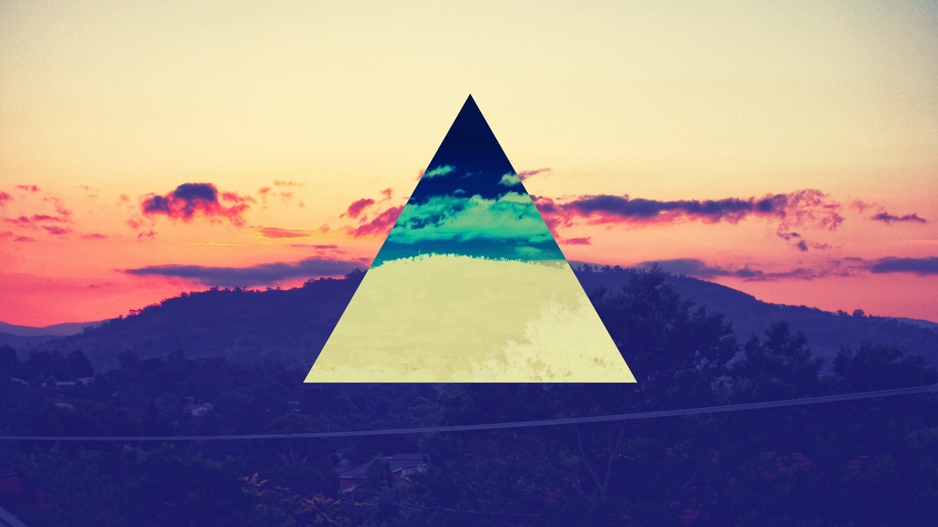 hipster swag color spectrum triangles 1920x1080 wallpaper Wallpaper HD 1920x1080