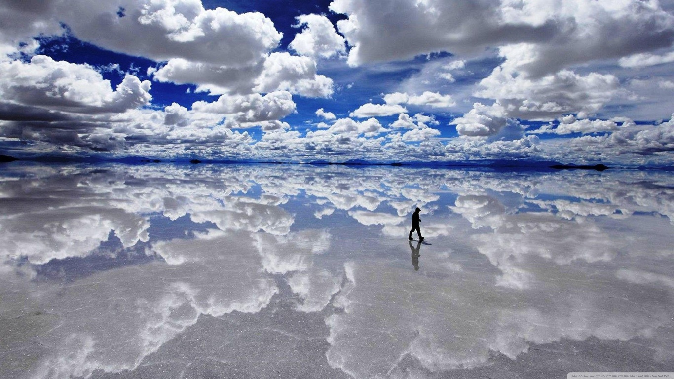 Salar de Uyuni Bolivia 4K HD Desktop Wallpaper for 4K Ultra HD 1366x768