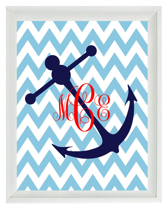 Chevron Anchor Background Chevron monogram nautical 570x713
