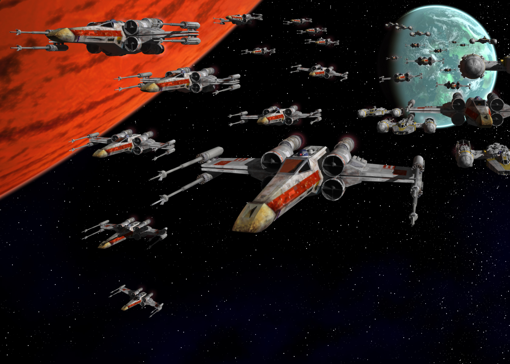 Free Download Star Wars X Wing Planets Fleet Hd Wallpaper Movies Tv 228598 1680x1200 For Your Desktop Mobile Tablet Explore 42 Hd X Wing Wallpaper X Men Movie Wallpaper