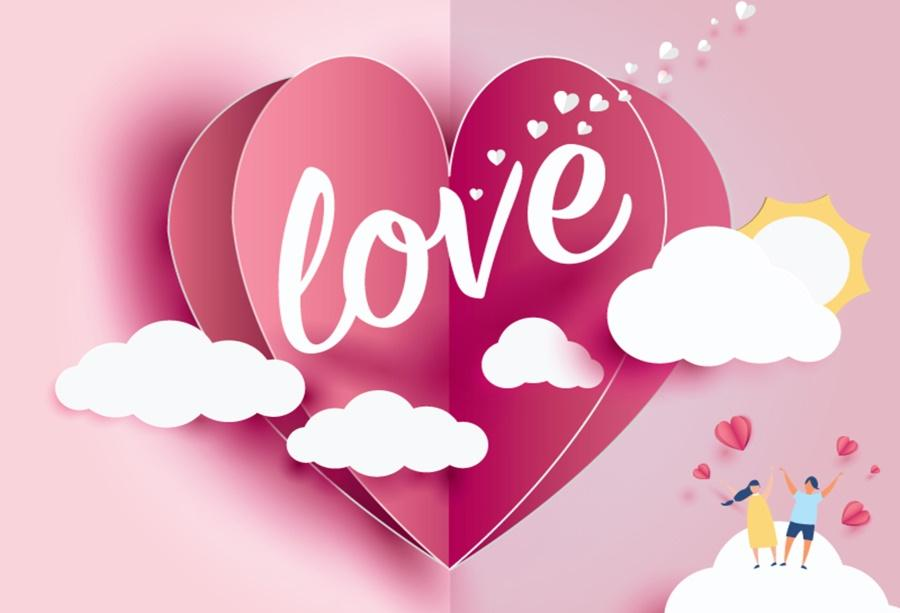 2019 Laeacco Photo Backdrops Happy ValentineS Day Baby Cartoon 900x613