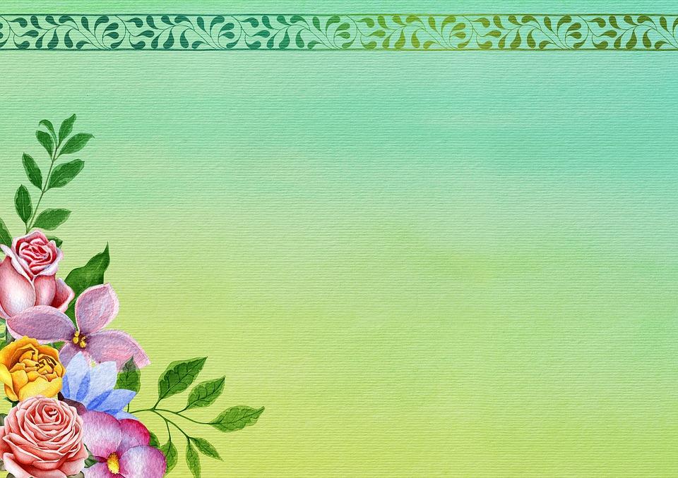 Flowers Border Background Image   image on Pixabay 960x678