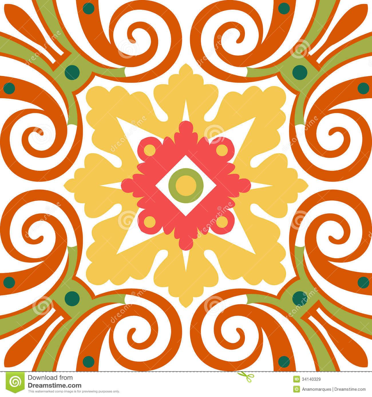 Free Download Spanish Tile Pattern Wallpaper Old Floral