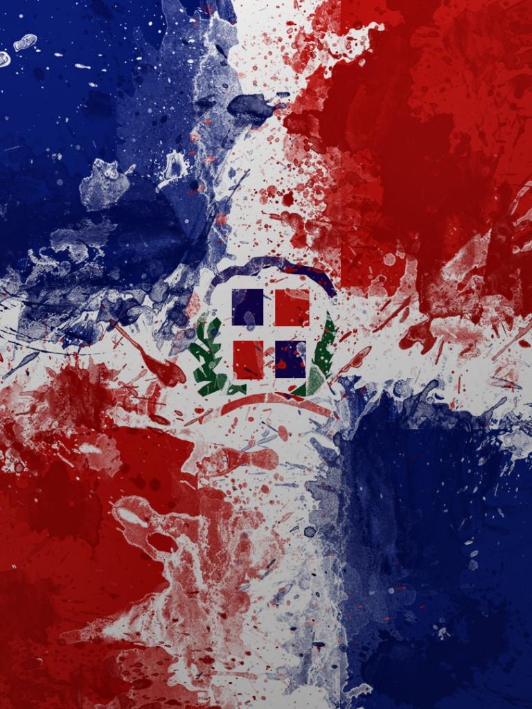 768x1024 Dominican Republic Flag Ipad wallpaper 768x1024