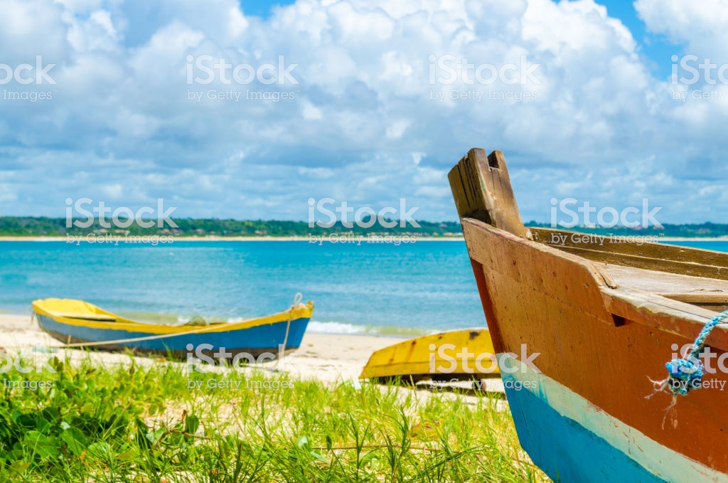 Front Of A Canoe In The Foreground In The Background A Sunny Beach 1024x679
