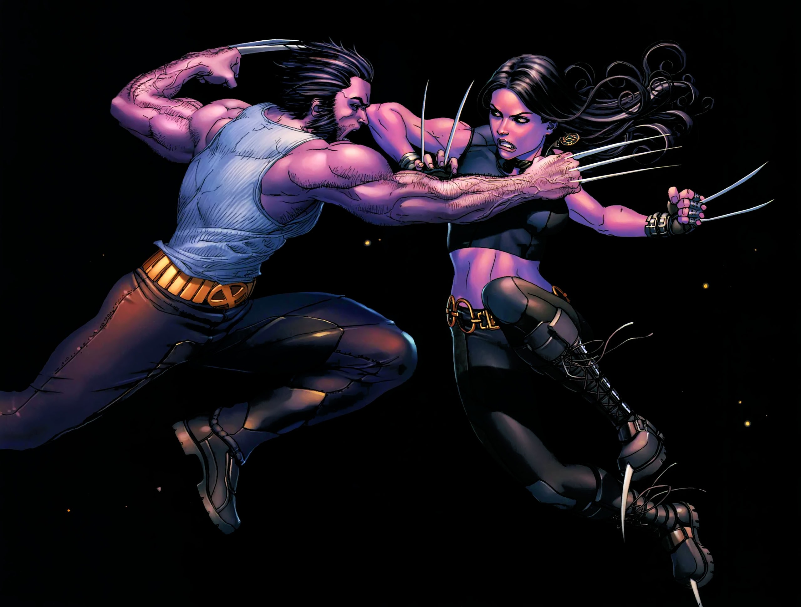 Wolverine and X 23 Wallpaper 2560x1940