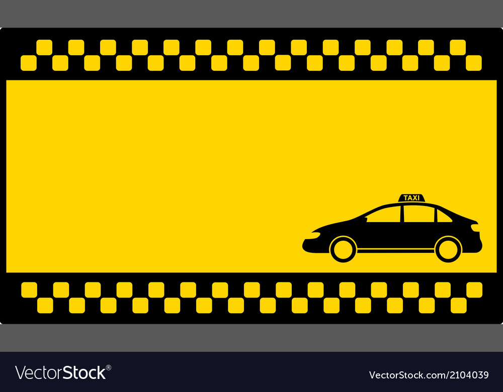 Yellow cab background with taxi car Royalty Vector 1000x780
