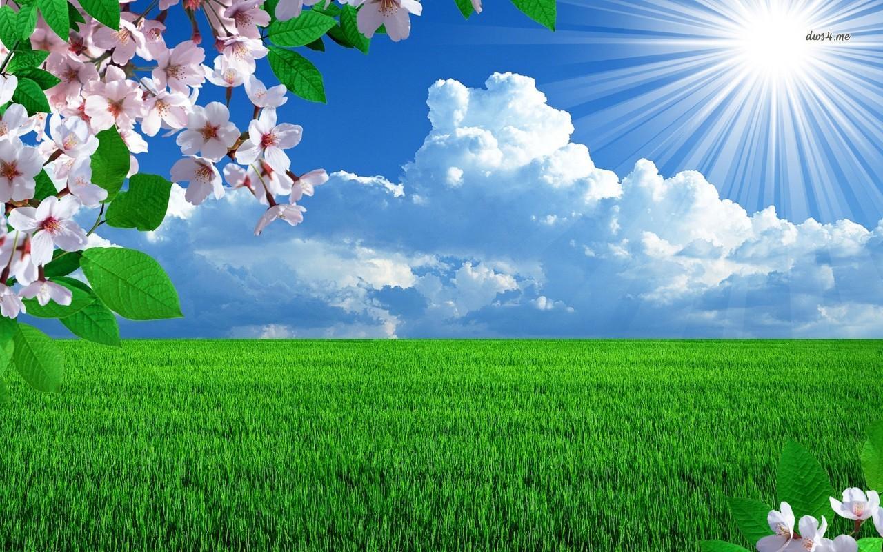 Free Download Sunny Spring Day Wallpaper Digital Art