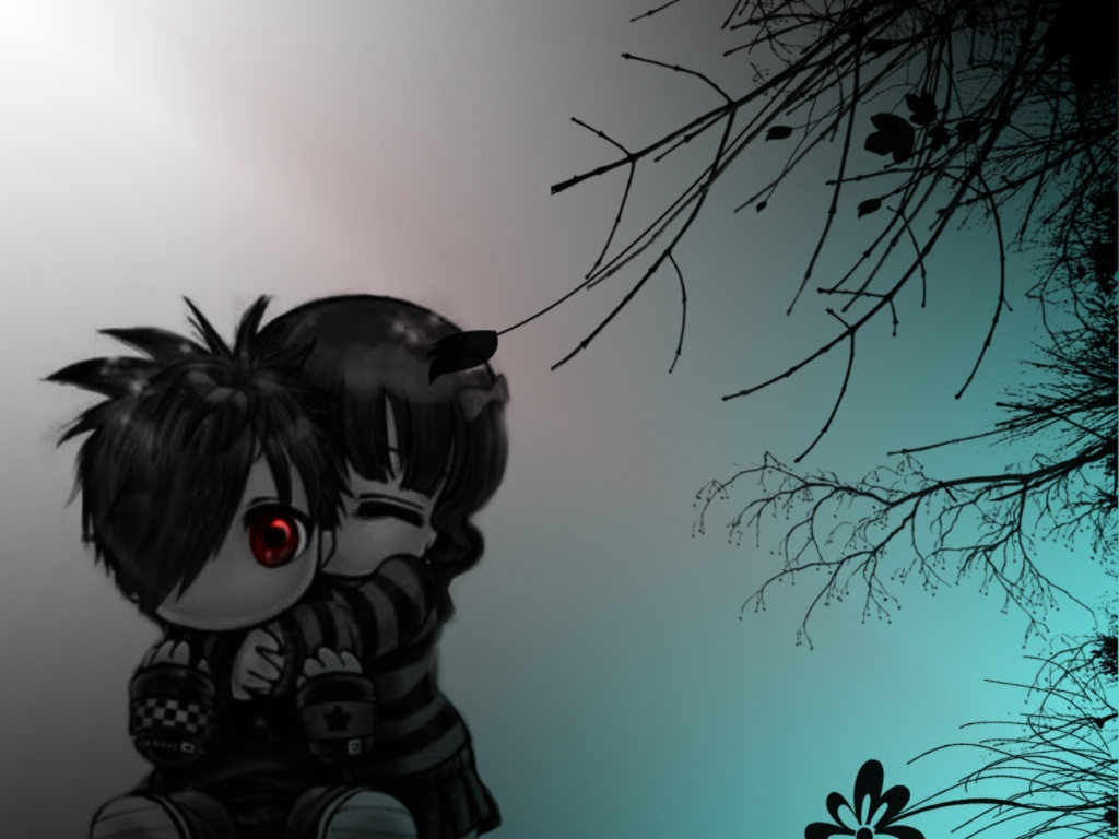 handmade wallpapers wallpaper desktop emo girl emo photo wallpaper 1024x768