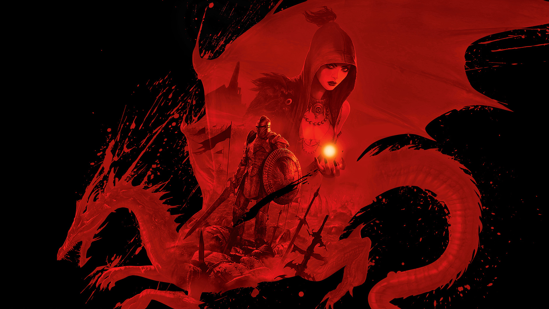Dragon lore wallpaper wallpapersafari - Dragon Age Wallpaper