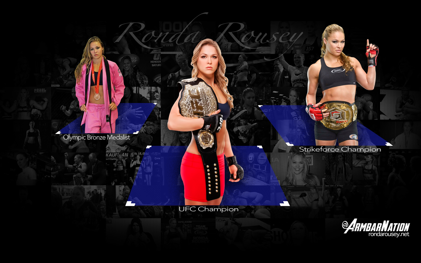 Armbar Nation Ronda Rousey Wallpaper 1440x900